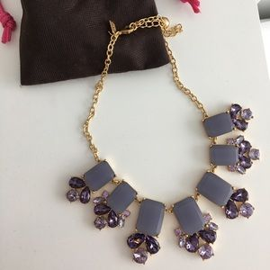 KATE SPADE LILAC STATEMENT NECKLACE